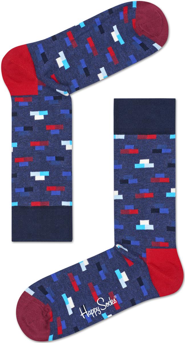 Носки женские Happy socks, цвет: синий, красный. BRI01. Размер 25BRI01Носки Happy Socks, изготовленные из высококачественного материала, дополнены принтом. Эластичная резинка плотно облегает ногу, не сдавливая ее. Усиленная пятка и мысок обеспечивают надежность и долговечность.