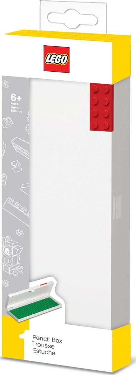 LEGO Пенал цвет красный51521Пенал выполнен из пластика. Вместительное отделение для канцелярских принадлежностей застегивается на защелку.