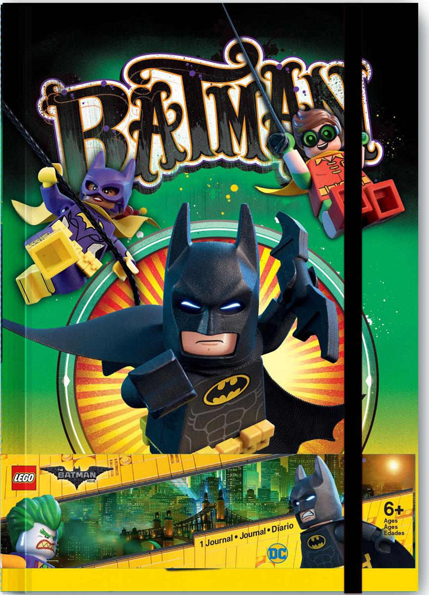 LEGO Batman Movie Блокнот Бэтмен96 листов в линейку51732Блокнот LEGO можно использовать в качестве ежедневника, блокнота для рисования, написания сочинений или важных событий. Обложка с резинкой выполнена из плотного картона и оформлена изображением супергероев. Внутренний блок состоит из 96 листов в линейку.