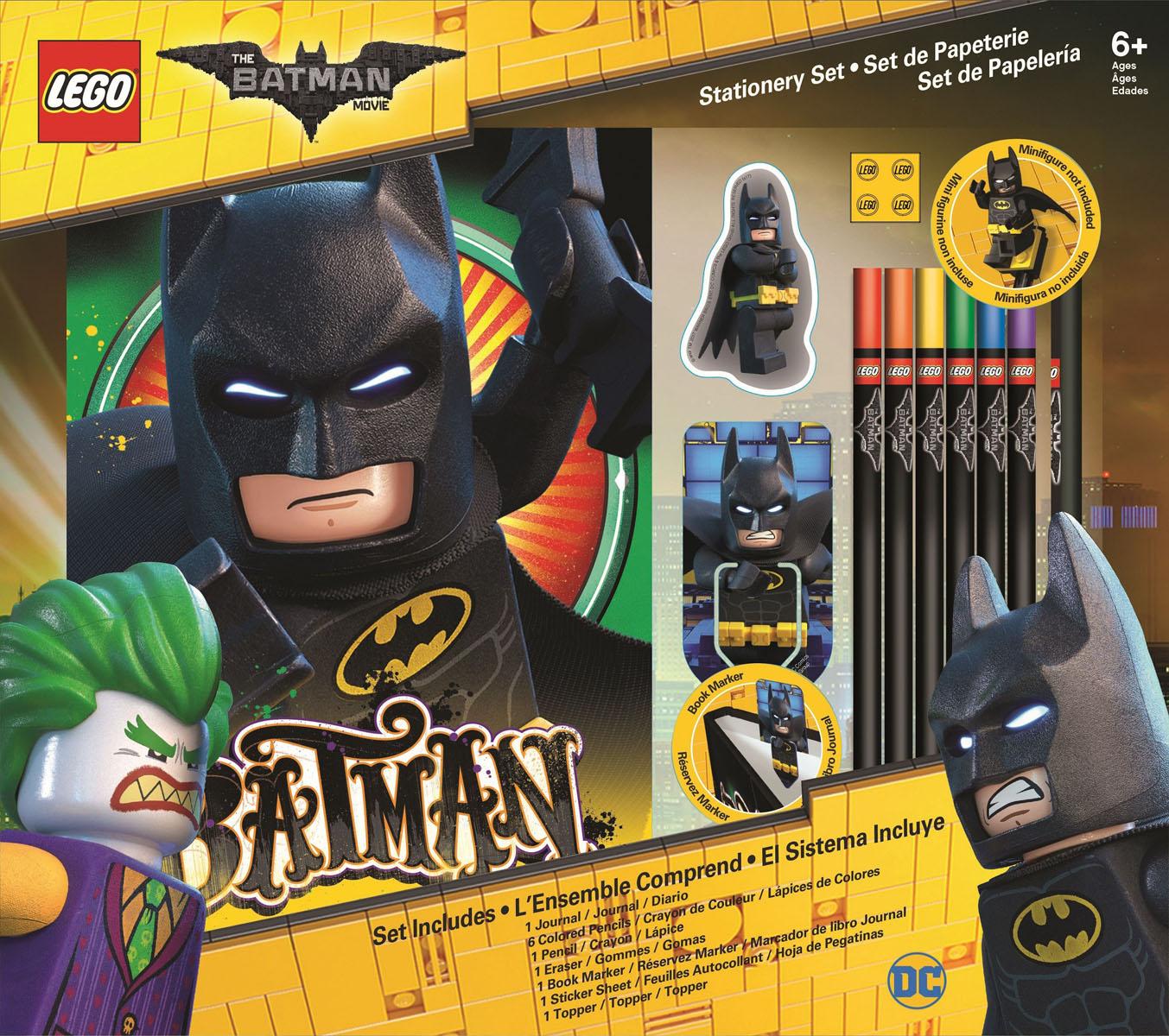 LEGO Набор канцелярских принадлежностей Batman Movie 12 предметов -  Канцелярские наборы