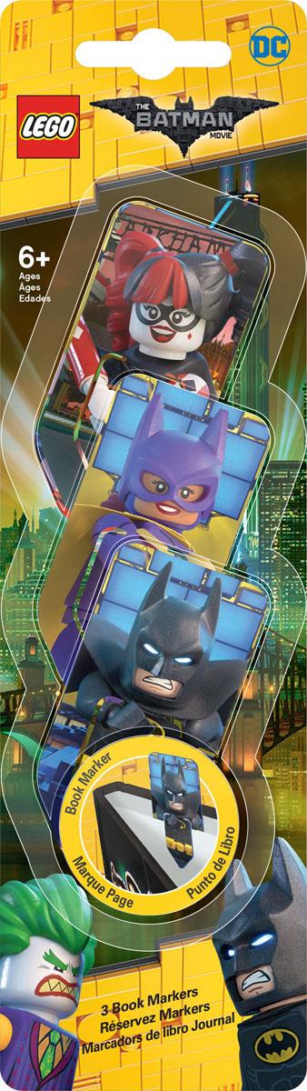 LEGO Набор закладок для книг Batman Movie 3 шт 5176151761Набор закладок для книг LEGO с лентикулярным изображением в формате 3D. В набор входит 3 закладки.