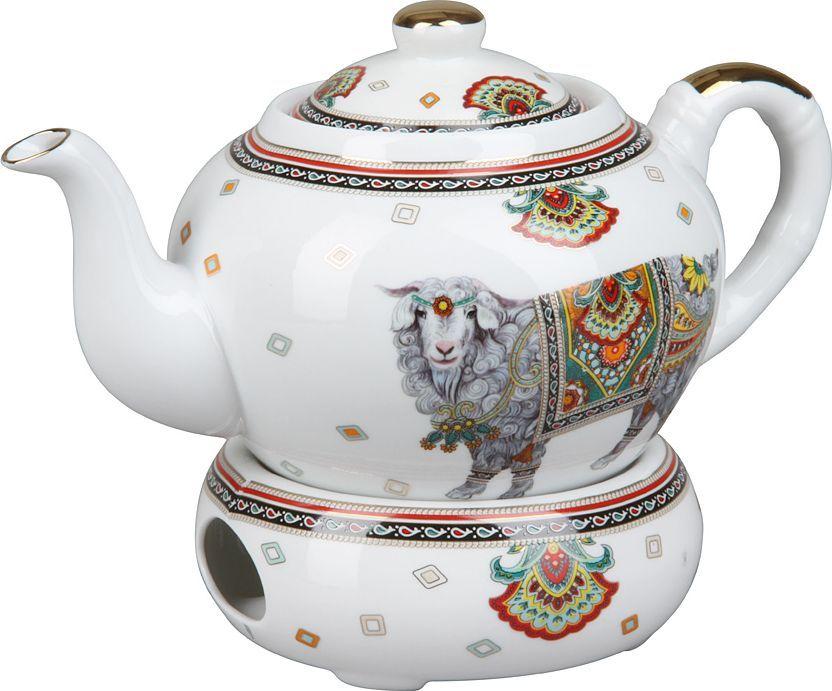 Чайник с подогревом Rosenberg. 804977.858@23662чайник с подогревом,керамика, 1л