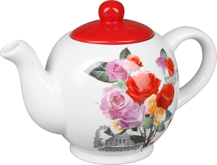 Чайник заварочный Rosenberg, розы разноцветные. 8057-1077.858@23778чайник заварочный, 1000мл