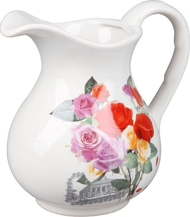 Кувшин Rosenberg, розы разноцв.. 8059-1077.858@23844кувшин, размеры 18 х 14 х 17.5 см, 1100мл
