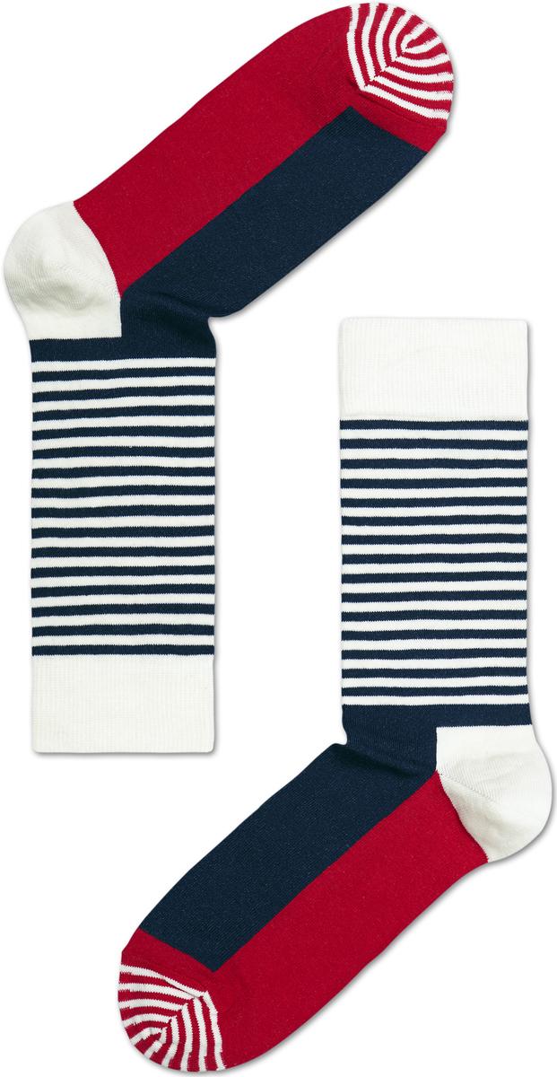 Носки женские Happy socks, цвет: темно-синий, белый. SH01. Размер 25SH01Носки Happy Socks, изготовленные из высококачественного материала, дополнены принтом. Эластичная резинка плотно облегает ногу, не сдавливая ее. Усиленная пятка и мысок обеспечивают надежность и долговечность.
