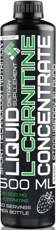 L-карнитин Sport Technology Nutrition, концентрированный, клубника, 500 мл l карнитин athletic nutrition 10 шт х 25 мл