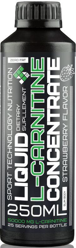 L-карнитин Sport Technology Nutrition, концентрированный, клубника, 250 мл напиток mychoice nutrition my fitness l carnitine 2700 shot клубника 9 x 60 мл