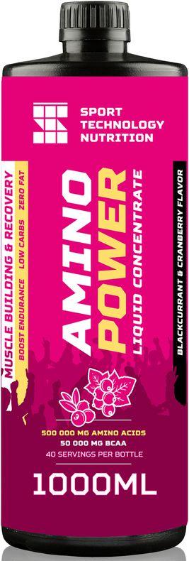 Аминокислоты Sport Technology Nutrition Amino Power, черная смородина, клюква, 1 л хлопковый жилет patagonia m s adze hybrid vest 83465