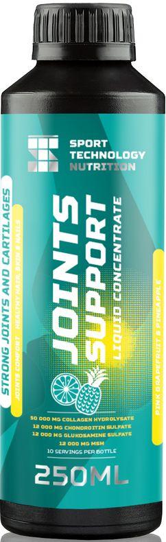 Изотоник Sport Technology Nutrition Joint Support, грейпфрут-ананас, 250 мл4607087122302Изотоник Sport Technology Nutrition Joint Support - жидкий комплекс аминокислот из гидролизата коллагена в связке с хондроитином, глюкозамином и метилсульфонилметаном. Активнодействующие компоненты позволяют восстанавливать хрящевую ткань, стимулируют выработку в организме внутрисуставной жидкости, увеличивают гибкость и подвижность суставов.