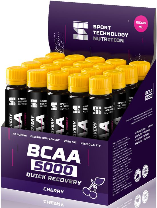 "BCAA Sport Technology Nutrition ""5000"", вишня, 25 мл х 20 шт"
