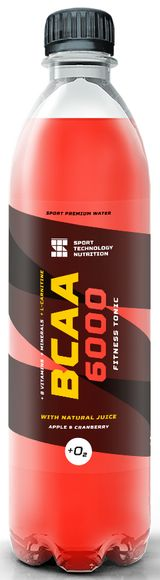 "BCAA Sport Technology Nutrition ""6000"", яблоко, клюква, 500 мл"