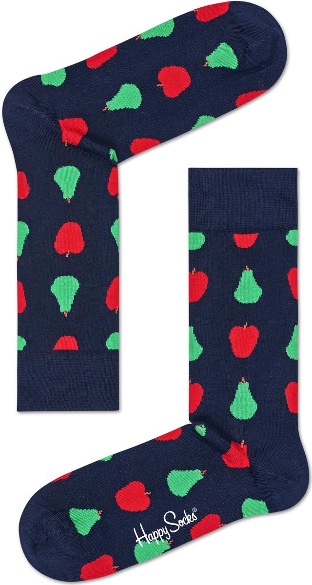 Носки женские Happy socks, цвет: темно-синий, мультиколор. FRU01. Размер 25 happy socks носки happy socks sd01 073