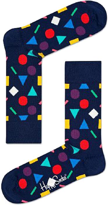 Носки женские Happy socks, цвет: темно-синий. PLA01. Размер 25PLA01Носки Happy Socks, изготовленные из высококачественного материала, дополнены принтом. Эластичная резинка плотно облегает ногу, не сдавливая ее. Усиленная пятка и мысок обеспечивают надежность и долговечность.