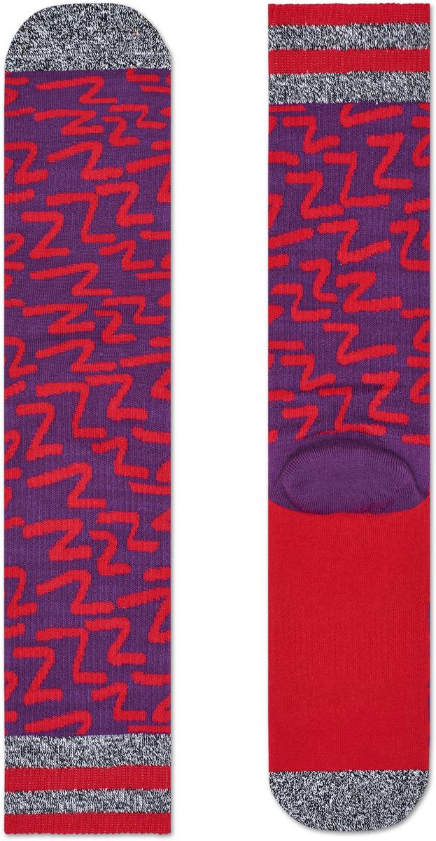 Носки женские Happy socks, цвет: фиолетовый, красный. ATZZZ27. Размер 25ATZZZ27Носки Happy Socks, изготовленные из высококачественного материала, дополнены принтом. Эластичная резинка плотно облегает ногу, не сдавливая ее. Усиленная пятка и мысок обеспечивают надежность и долговечность.