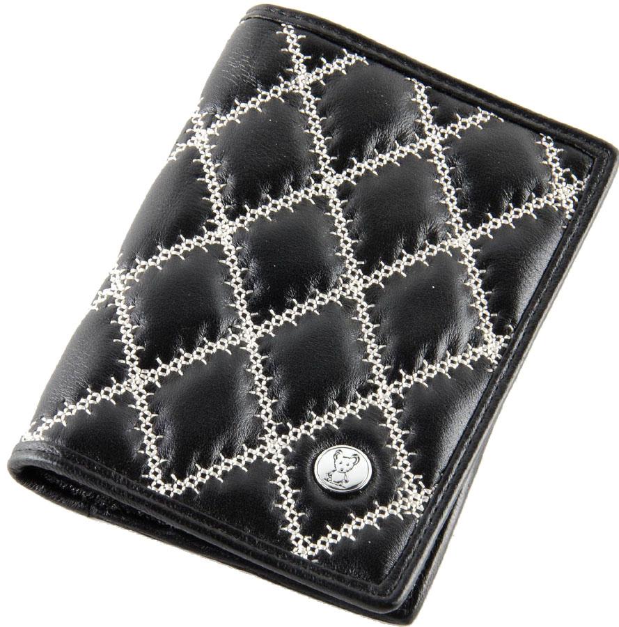 Обложка на паспорт женская Topo Fortunato, цвет: черный. TF 101-090 - Обложки для паспорта