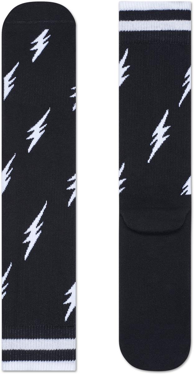 Носки женские Happy socks, цвет: черный, белый. ATFLA27. Размер 25ATFLA27Носки Happy Socks, изготовленные из высококачественного материала, дополнены принтом. Эластичная резинка плотно облегает ногу, не сдавливая ее. Усиленная пятка и мысок обеспечивают надежность и долговечность.