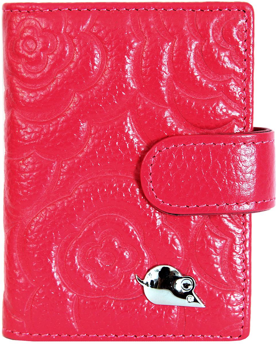 Визитница вертикальная женская Topo Fortunato, цвет: розовый. TF 106-100