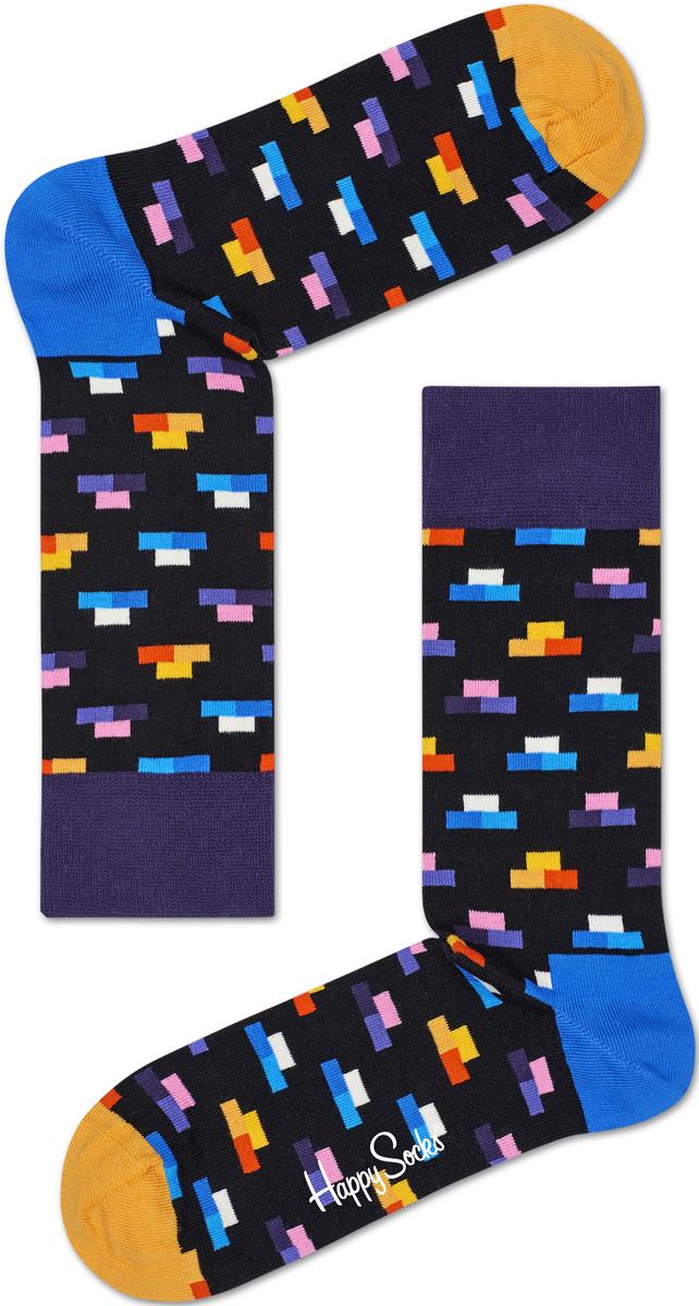 Носки женские Happy socks, цвет: черный, мультиколор. BRI01. Размер 25BRI01Носки Happy Socks, изготовленные из высококачественного материала, дополнены принтом. Эластичная резинка плотно облегает ногу, не сдавливая ее. Усиленная пятка и мысок обеспечивают надежность и долговечность.