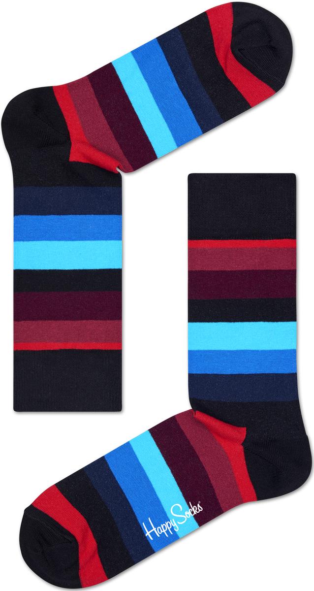 Носки женские Happy socks, цвет: черный, мультиколор. SA01. Размер 25SA01Носки Happy Socks, изготовленные из высококачественного материала, дополнены принтом. Эластичная резинка плотно облегает ногу, не сдавливая ее. Усиленная пятка и мысок обеспечивают надежность и долговечность.