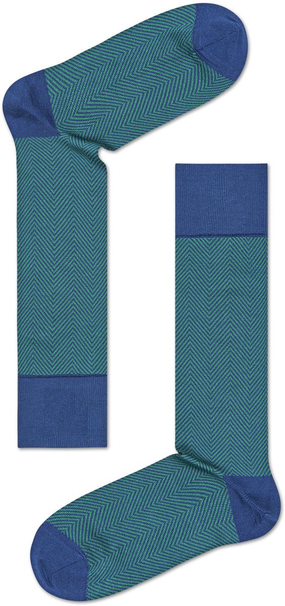 Носки мужские Happy socks, цвет: зеленый, синий. HEB34. Размер 27HEB34Носки Happy Socks, изготовленные из высококачественного материала, дополнены принтом. Эластичная резинка плотно облегает ногу, не сдавливая ее. Усиленная пятка и мысок обеспечивают надежность и долговечность.