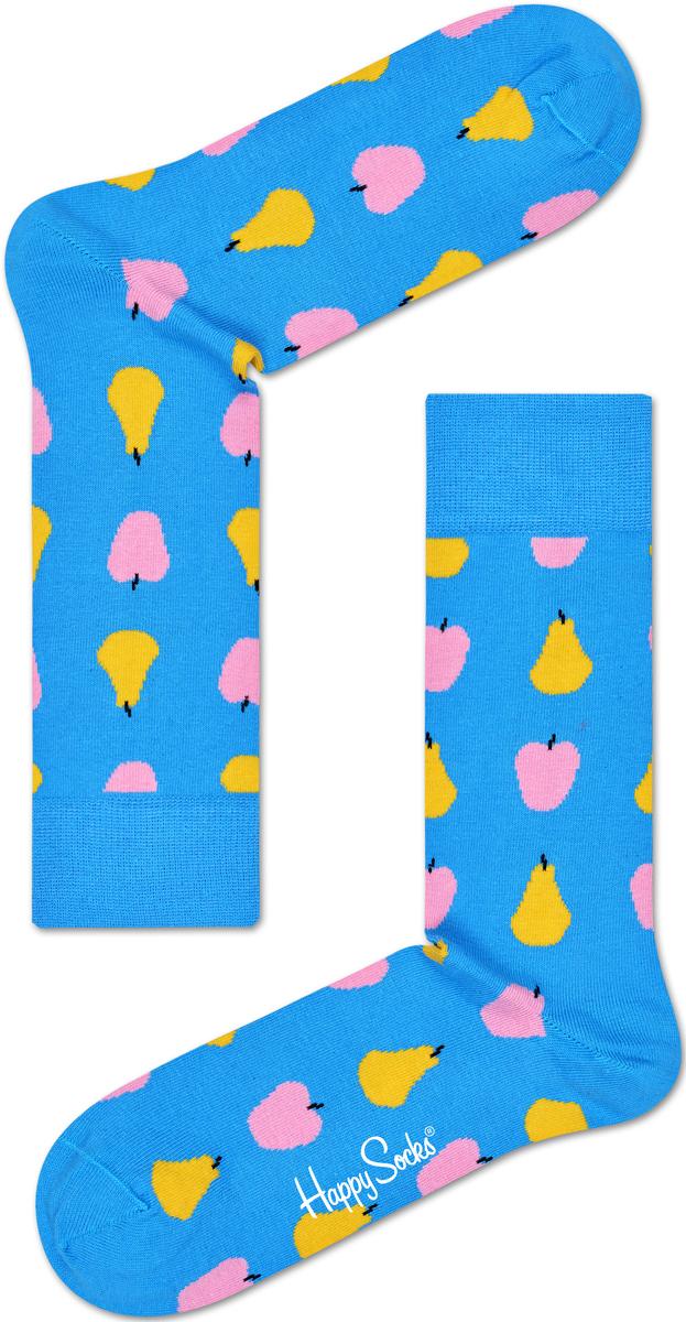 Носки женские Happy socks, цвет: голубой, мультиколор. FRU01. Размер 29FRU01Носки Happy Socks, изготовленные из высококачественного материала, дополнены принтом. Эластичная резинка плотно облегает ногу, не сдавливая ее. Усиленная пятка и мысок обеспечивают надежность и долговечность.