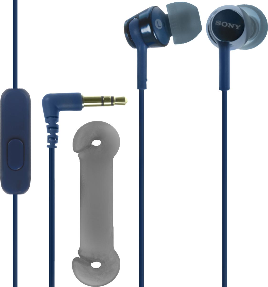 Sony EX155AP, Blue наушникиMDREX155APLI.EНаушники-вкладыши Sony EX155AP обеспечивают отличный динамический звук даже на ходу.Высокочувствительные 9-миллиметровые динамики в компактном корпусе обеспечивают четкое звучание верхних частот и мощные басы.Отвечайте на звонки в режиме гарнитуры и переключайте треки, не прикасаясь к смартфону, — это возможно благодаря встроенному в кабель пульту управления и микрофону.Устойчивый к спутыванию и перекручиванию рифленый кабель обеспечивает комфорт при использовании наушников.Вкладыши четырех размеров (SS, S, M и L) позволяют адаптировать наушники под свои потребности для максимально комфортного прослушивания на ходу.