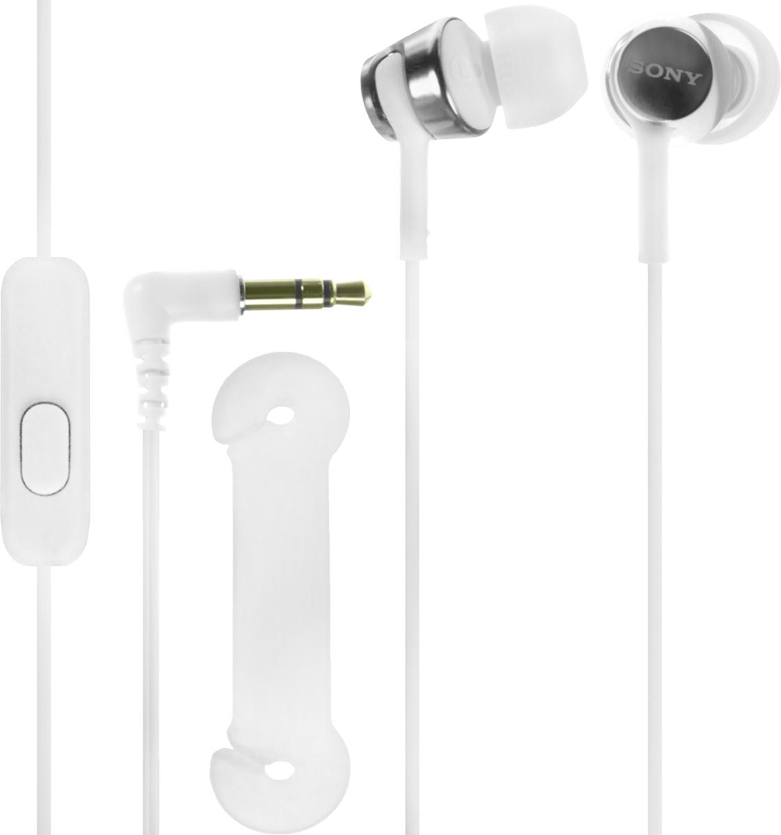 Sony EX155AP, White наушникиMDREX155APW.EНаушники-вкладыши Sony EX155AP обеспечивают отличный динамический звук даже на ходу.Высокочувствительные 9-миллиметровые динамики в компактном корпусе обеспечивают четкое звучание верхних частот и мощные басы.Отвечайте на звонки в режиме гарнитуры и переключайте треки, не прикасаясь к смартфону, - это возможно благодаря встроенному в кабель пульту управления и микрофону.Устойчивый к спутыванию и перекручиванию рифленый кабель обеспечивает комфорт при использовании наушников.Вкладыши четырех размеров (SS, S, M и L) позволяют адаптировать наушники под свои потребности для максимально комфортного прослушивания на ходу.