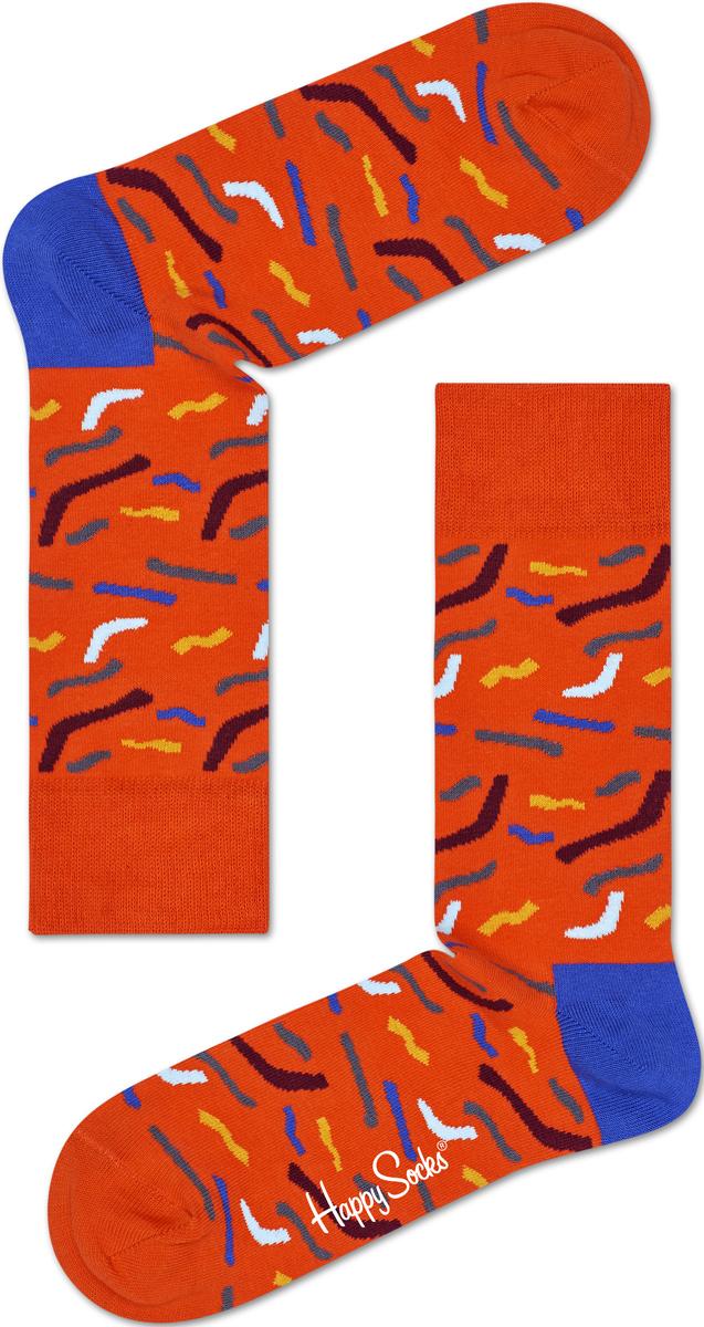 Носки женские Happy socks, цвет: оранжевый, голубой. PAP01. Размер 29PAP01Носки Happy Socks, изготовленные из высококачественного материала, дополнены принтом. Эластичная резинка плотно облегает ногу, не сдавливая ее. Усиленная пятка и мысок обеспечивают надежность и долговечность.