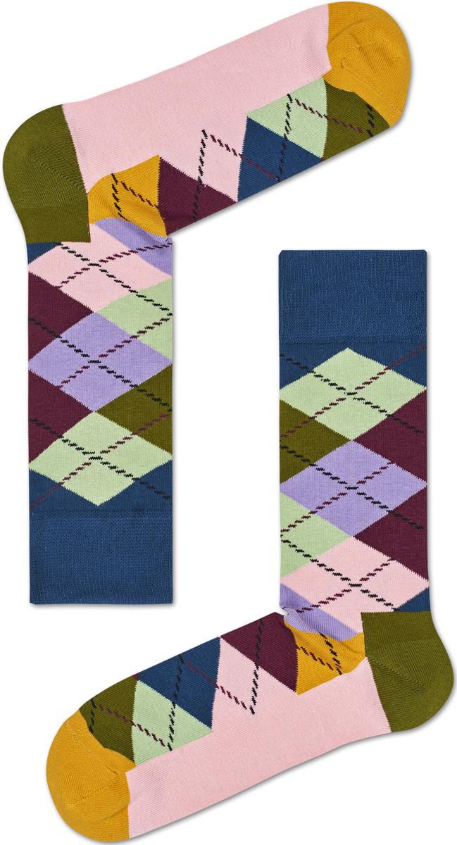 Носки женские Happy socks, цвет: светло-розовый, мультиколор. ARY01. Размер 29ARY01Носки Happy Socks, изготовленные из высококачественного материала, дополнены принтом. Эластичная резинка плотно облегает ногу, не сдавливая ее. Усиленная пятка и мысок обеспечивают надежность и долговечность.