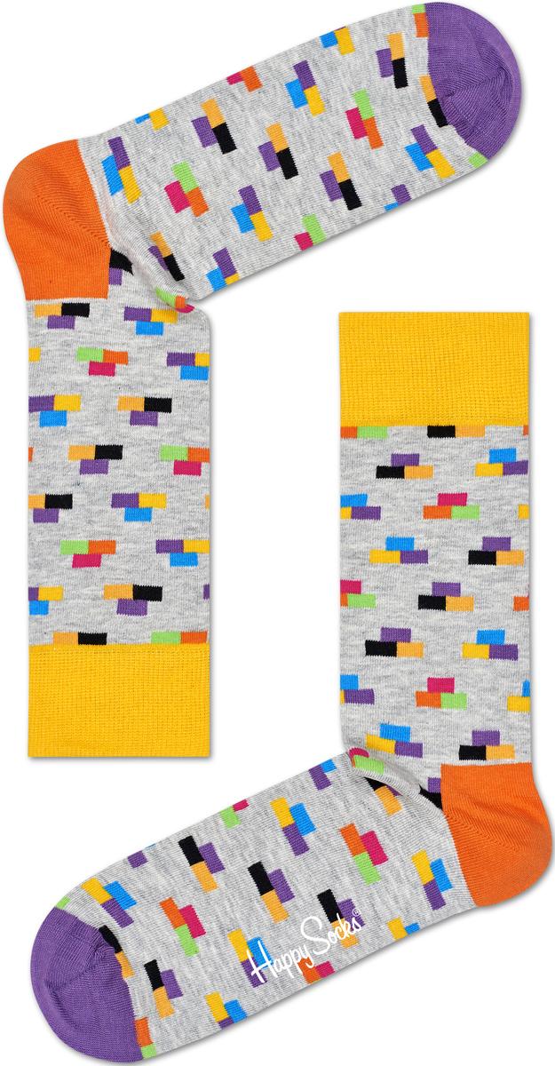 Носки женские Happy socks, цвет: светло-серый, мультиколор. BRI01. Размер 29BRI01Носки Happy Socks, изготовленные из высококачественного материала, дополнены принтом. Эластичная резинка плотно облегает ногу, не сдавливая ее. Усиленная пятка и мысок обеспечивают надежность и долговечность.