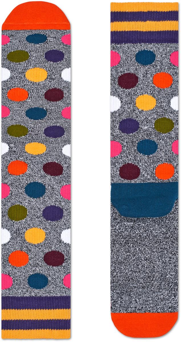 Носки женские Happy socks, цвет: серый, мультиколор. ATBDO27. Размер 29ATBDO27Носки Happy Socks, изготовленные из высококачественного материала, дополнены принтом. Эластичная резинка плотно облегает ногу, не сдавливая ее. Усиленная пятка и мысок обеспечивают надежность и долговечность.