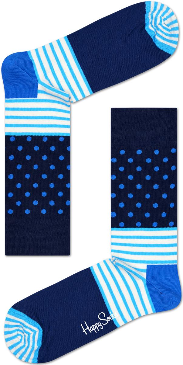 Носки женские Happy socks, цвет: синий, голубой. SD01. Размер 29SD01Носки Happy Socks, изготовленные из высококачественного материала, дополнены принтом. Эластичная резинка плотно облегает ногу, не сдавливая ее. Усиленная пятка и мысок обеспечивают надежность и долговечность.