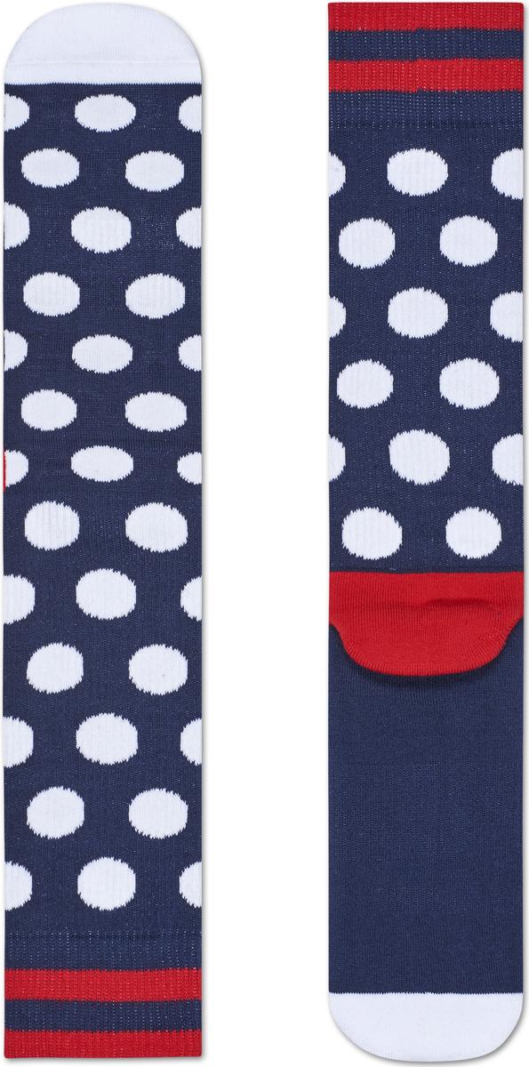 Носки женские Happy socks, цвет: темно-синий, белый. ATBDO27. Размер 29ATBDO27Носки Happy Socks, изготовленные из высококачественного материала, дополнены принтом. Эластичная резинка плотно облегает ногу, не сдавливая ее. Усиленная пятка и мысок обеспечивают надежность и долговечность.
