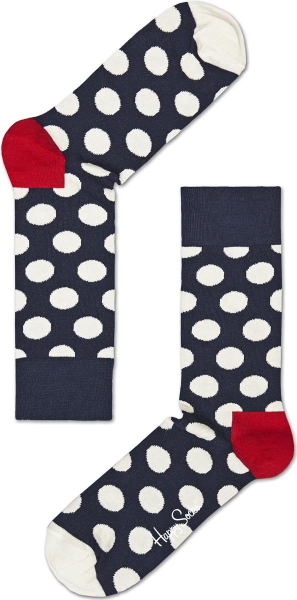 Носки женские Happy socks, цвет: темно-синий, белый. BD01. Размер 29BD01Носки Happy Socks, изготовленные из высококачественного материала, дополнены принтом. Эластичная резинка плотно облегает ногу, не сдавливая ее. Усиленная пятка и мысок обеспечивают надежность и долговечность.