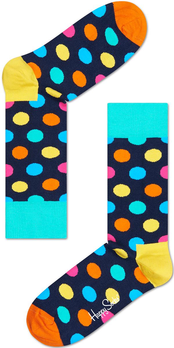 Носки женские Happy socks, цвет: темно-синий, мультиколор. BD01. Размер 29BD01Носки Happy Socks, изготовленные из высококачественного материала, дополнены принтом. Эластичная резинка плотно облегает ногу, не сдавливая ее. Усиленная пятка и мысок обеспечивают надежность и долговечность.