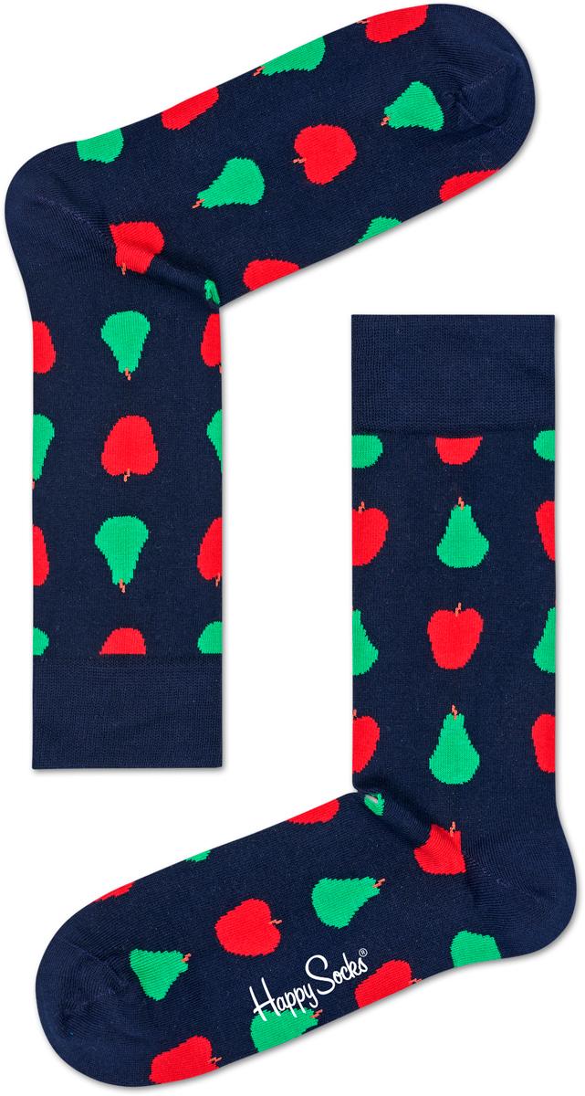 Носки женские Happy socks, цвет: темно-синий, мультиколор. FRU01. Размер 29FRU01Носки Happy Socks, изготовленные из высококачественного материала, дополнены принтом. Эластичная резинка плотно облегает ногу, не сдавливая ее. Усиленная пятка и мысок обеспечивают надежность и долговечность.