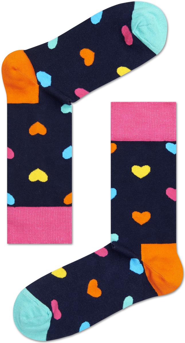 Носки женские Happy socks, цвет: темно-синий, мультиколор. HA01. Размер 29HA01Носки Happy Socks, изготовленные из высококачественного материала, дополнены принтом. Эластичная резинка плотно облегает ногу, не сдавливая ее. Усиленная пятка и мысок обеспечивают надежность и долговечность.