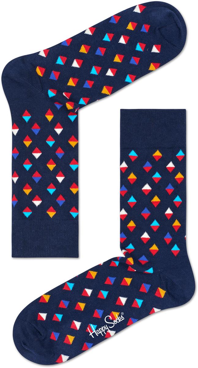 Носки женские Happy socks, цвет: темно-синий, мультиколор. MDI01. Размер 29MDI01Носки Happy Socks, изготовленные из высококачественного материала, дополнены принтом. Эластичная резинка плотно облегает ногу, не сдавливая ее. Усиленная пятка и мысок обеспечивают надежность и долговечность.