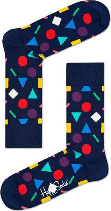 Носки женские Happy socks, цвет: темно-синий. PLA01. Размер 29PLA01Носки Happy Socks, изготовленные из высококачественного материала, дополнены принтом. Эластичная резинка плотно облегает ногу, не сдавливая ее. Усиленная пятка и мысок обеспечивают надежность и долговечность.