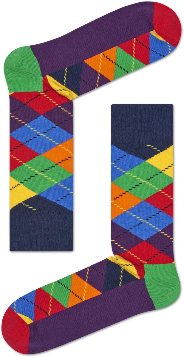 Носки женские Happy socks, цвет: фиолетовый, мультиколор. ARY01. Размер 29ARY01Носки Happy Socks, изготовленные из высококачественного материала, дополнены принтом. Эластичная резинка плотно облегает ногу, не сдавливая ее. Усиленная пятка и мысок обеспечивают надежность и долговечность.