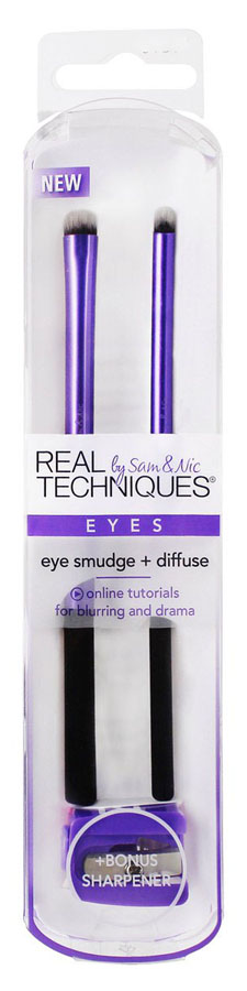 Real Techniques Набор для макияжа глаз Eye Smudge + Diffuse angle eye shadow brush кисть для макияжа глаз