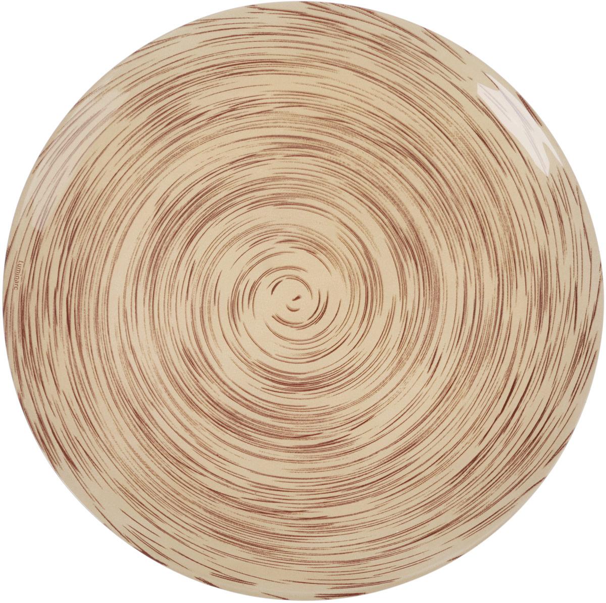 Тарелка обеденная Luminarc Stonemania, цвет: бежевый, коричневый, диаметр 25 смJ1759Обеденная тарелка Luminarc Stonemania, изготовленная из высококачественного стекла, имеет изысканный внешний вид. Такая тарелка прекрасно подходит как для торжественных случаев, так и для повседневного использования. Идеальна для подачи десертов, пирожных, тортов и многого другого. Она прекрасно оформит стол и станет отличным дополнением к вашей коллекции кухонной посуды. Можно мыть в посудомоечной машине.