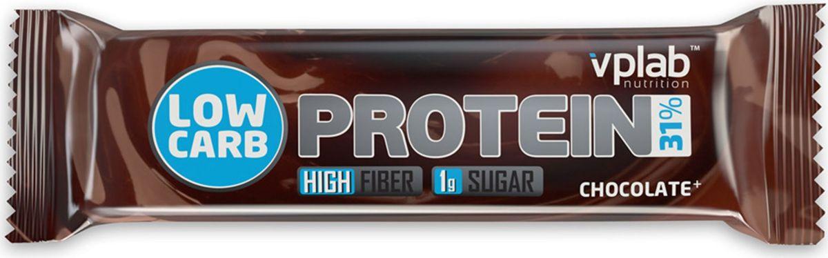 Батончик протеиновый Vplab Low Carb Protein Bar, шоколад, 35 г батончики спортивные академия т батончик champions high protein bar 40 г шоубокс 16 шт