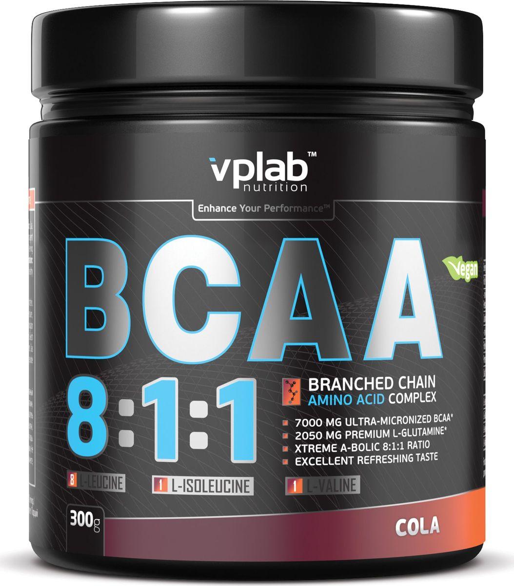 Аминокислоты Vplab BCAA 8:1:1, кола, 300 гVP54292Аминокислоты Vplab BCAA 8:1:1 - это незаменимые аминокислоты с разветвленными цепочками (ВСАА), которые являются основнымматериалом для синтеза протеина, обладают сильнейшим анаболическим эффектом, препятствуют катаболизму. L-глютамин усиливает эффектВСАА, способствуя более эффективному росту мышечной массы и восстановлению. Ультрамикронизированные BCAA нового поколенияотличаются наилучшей растворимостью и полным отсутствием горечи. Соотношение лейцин - изолейцин - валин 8:1:1 является оптимальным длямаксимального увеличения анаболического потенциала мышечных тканей. Питательная ценность: Питательная ценность на 100 г: энергетическая ценность - 354 ккал (1,487), белки - 71,8 г, углеводы - 6,2 г, из которых сахара - 0,1 г, жиры - 0,1 г,клетчатка - 0,08 г. Аминокислоты на 100 г белка: L-лейцин - 56 г, L-глютамин - 20,6 г, L-изолейцин - 7 г, L-валин - 7 г.