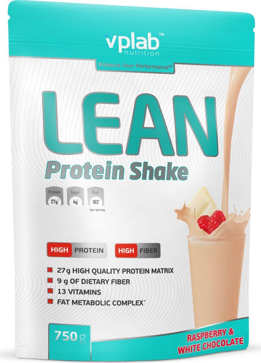 Протеин Vplab Lean Protein, малина и белый шоколад, 750 г протеин vplab pro5 protein ваниль крем 500 г