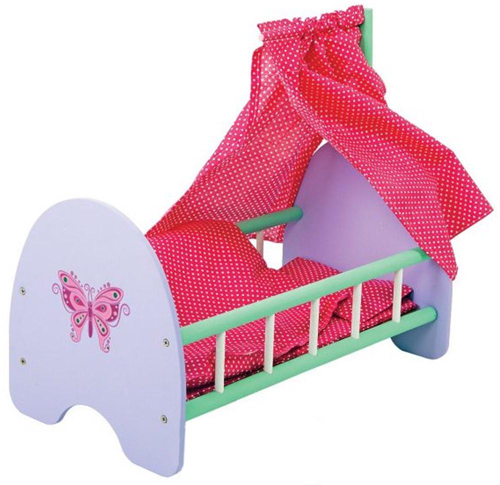Mary Poppins Кроватка для кукол Бабочка с пологом бабочка 67133 mary poppins