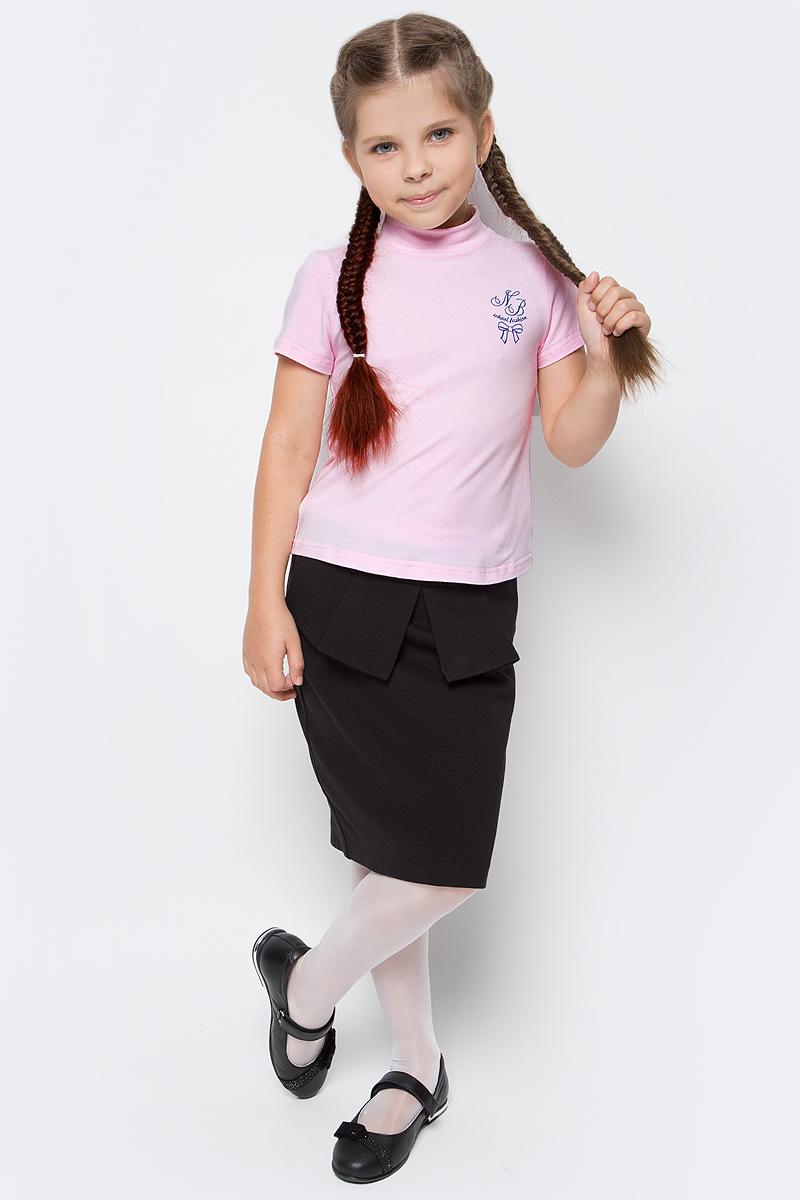 Водолазка для девочки Nota Bene, цвет: розовый. CJR27040B05. Размер 152CJR27040A05/CJR27040B05Водолазка для девочки Nota Bene выполнена из хлопкового трикотажа. Модель с короткими рукавами и воротником-стойкой на груди оформлена принтом.