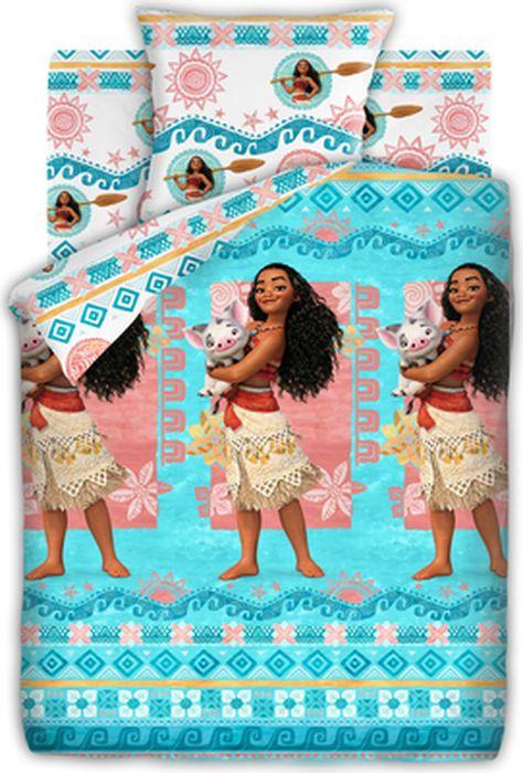 Комплект детского постельного белья Моана Моана и Пуа, 1,5-спальный, наволочка 70х70431553