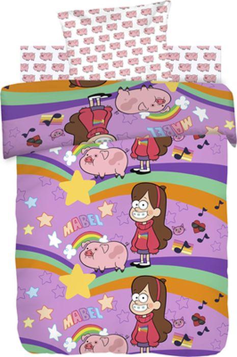 Комплект детского постельного белья Гравити Фолз Мэйбл и Пухля, 1,5-спальный, наволочка 70х70431556