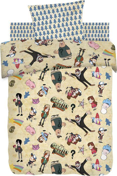 Комплект детского постельного белья Гравити Фолз Гравити Фолз, 1,5-спальный, наволочка 70х70Н813-01_бежевый